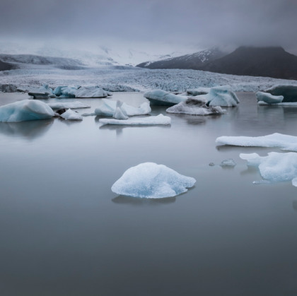 At the foot of glacier
