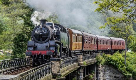 Steam engine on Dee Bridge