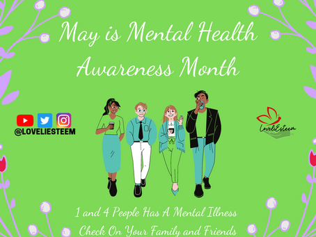 MAY IS MENTAL HEALTH AWARENESS MONTH!!
