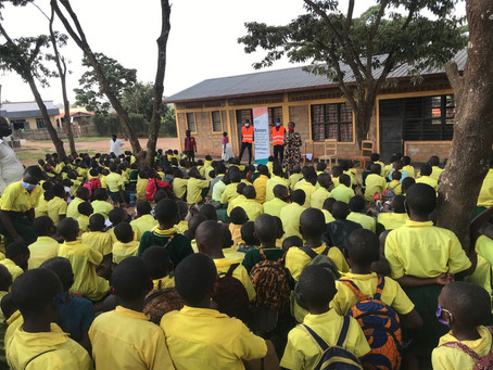 Local action teaching session on road safety at Rango Primary School.