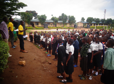 """If we cannot mention Road safety we can't improve it"" Teaching Session at  Kanombe on Road Safety"