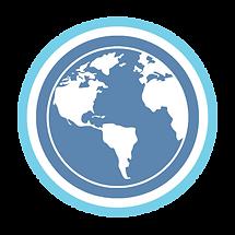 Religious studies blue and white globe logo