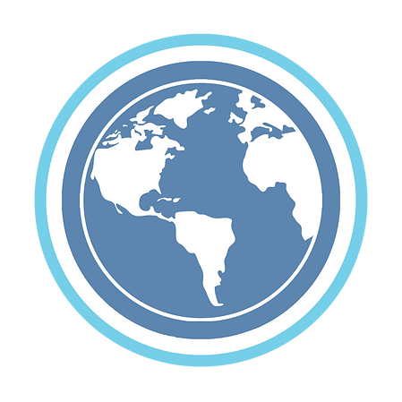 Religious studies blue and white globe logo