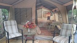 This is the front of  Glamping Tent
