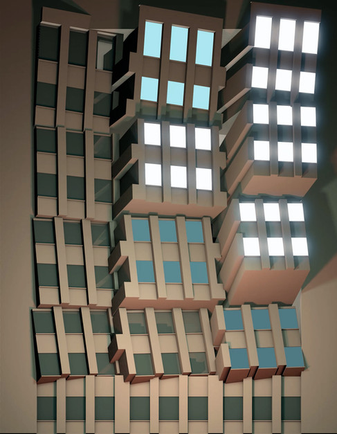 Santander new building facade mapping