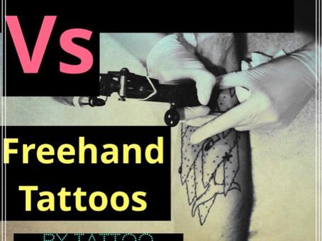 Stencilled tattoos vs Freehand tattoos