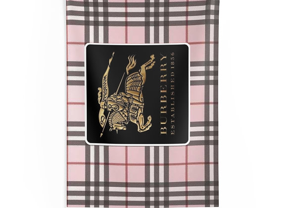 Burberry pink plaid Wall Tapestry