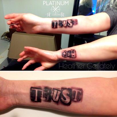 Trust Tattoo Letters