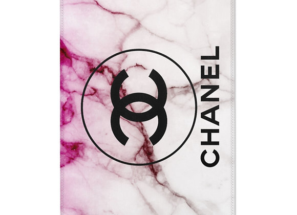 Chanel Rug : Pink and White Marble