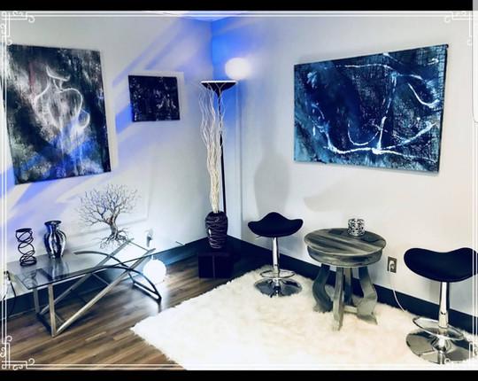 Art Gallery inside of Platinum Tattoo