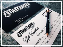 Platinum Tattoo Gift Certificates