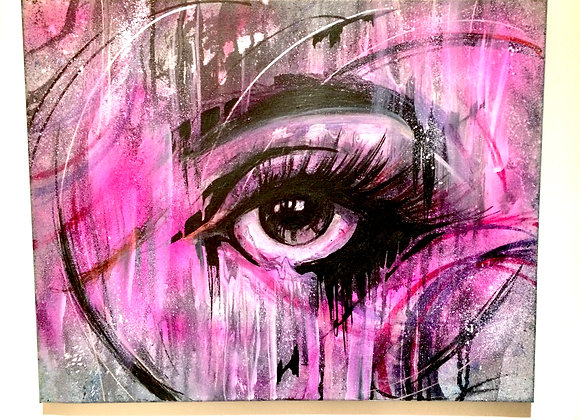 All Eyes on You : SOLD www.SAATCHIART.com