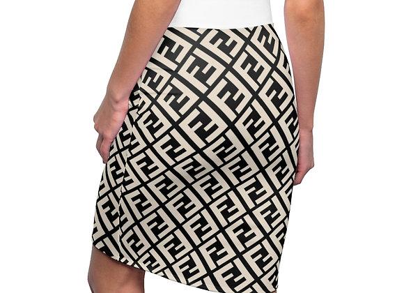 Fendi - inspired :  Pencil Skirt