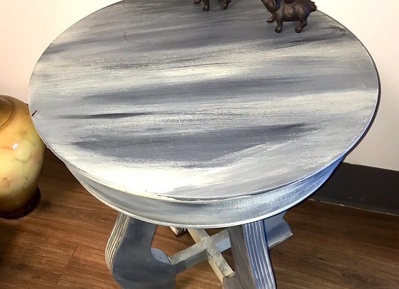 Hand Antiqued Solid Wood End Table