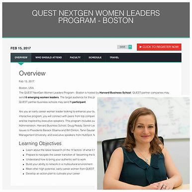 Olaris CEO invited to speak at Quest's NextGen Women Leaders Program