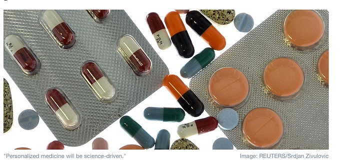"""""""3 ways personalized medicine will affect you"""" article by Olaris CEO, Dr. Elizabeth O'Day for the World Economic Forum"""