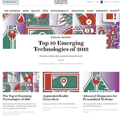 Advanced Diagnostics Are Featured in Scientific American's Top Emerging Tech of 2018