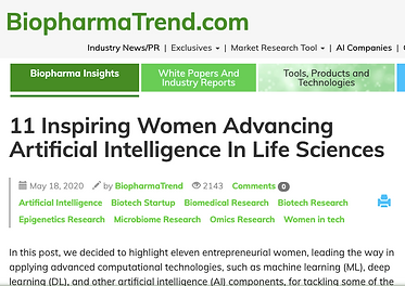 BiopharmaTrend highlights 11 women entrepreneurs advancing AI in life sciences