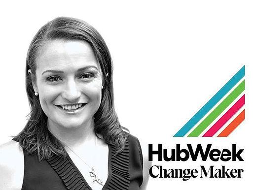 Olaris CEO, Dr.  Elizabeth O'Day, profiled in HubWeek's Change Marker series