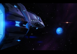 Space ship and Zederth
