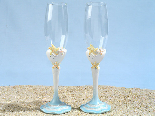 Beach Wedding - Starfish Flutes