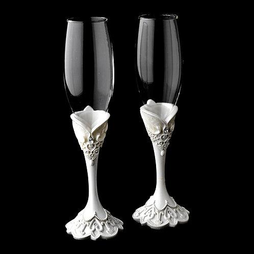 Victorian Lace Wedding - Flutes