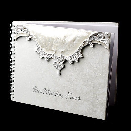 Victorian Lace Wedding - Guest Book