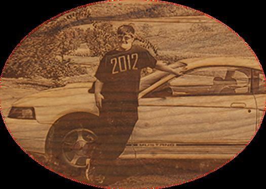 Portrait on Cherry Wood 5 x 7