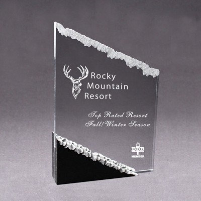 Acrylic Frosted Mountain Award