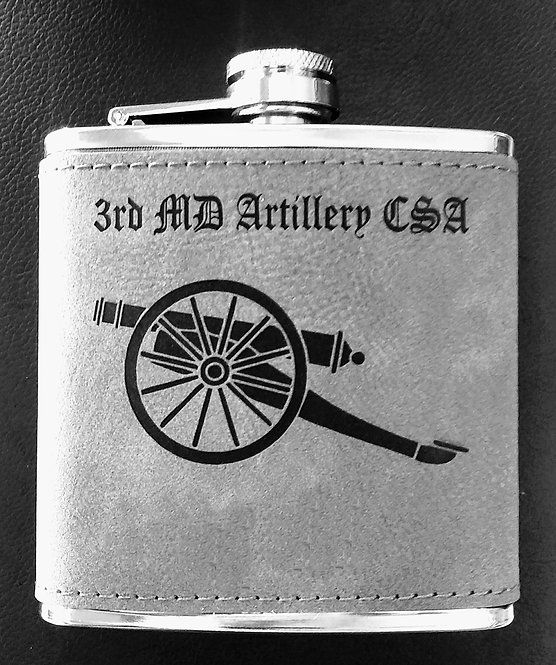 Flask 6 oz stainless steel and leather