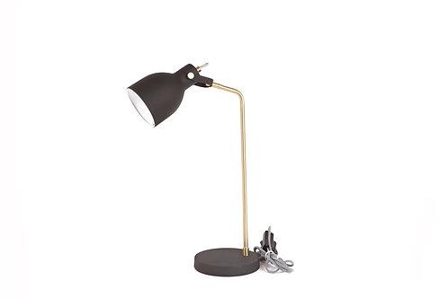 Textured matt black trendy table lamp