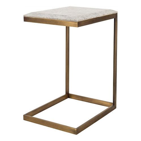 Block Brass Side Table