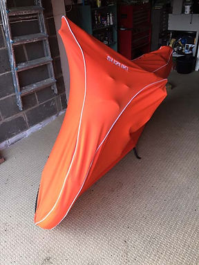 Ultima Lite Cover in Orange with White Piping