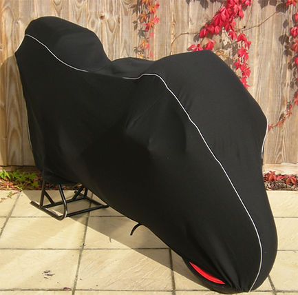 Honda RS250 R Prestige Custom Indoor Cover, Black with Silver Piping