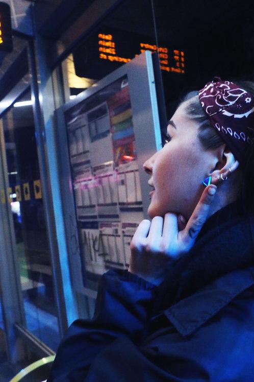 Triangle retro earrings