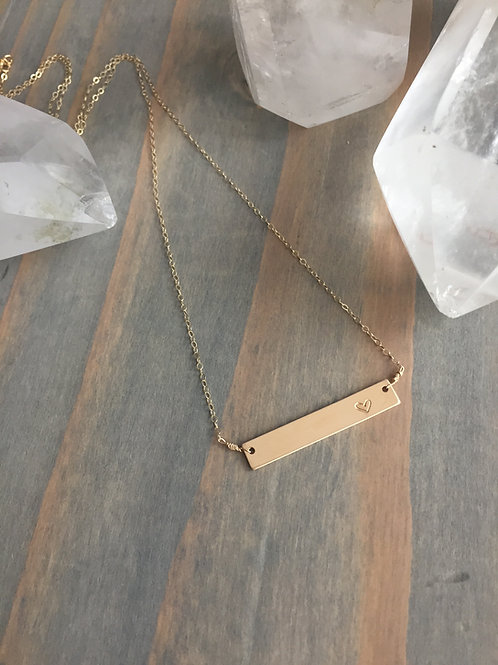 &Hearts Bar Necklace