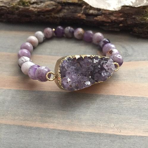 Amethyst + Tiffany Stone Bracelet