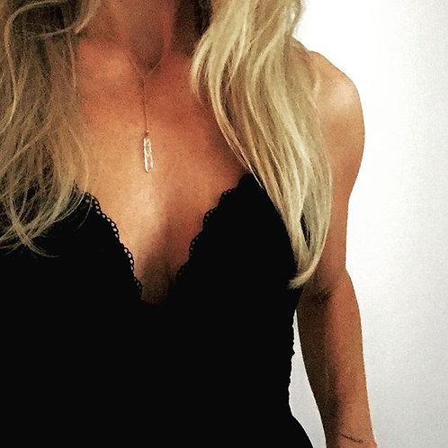 Quartz Drop Necklace
