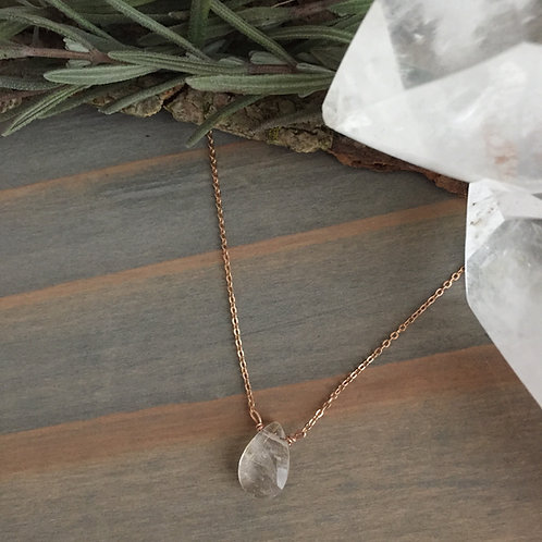 Rose Gold Ginny Quartz Necklace