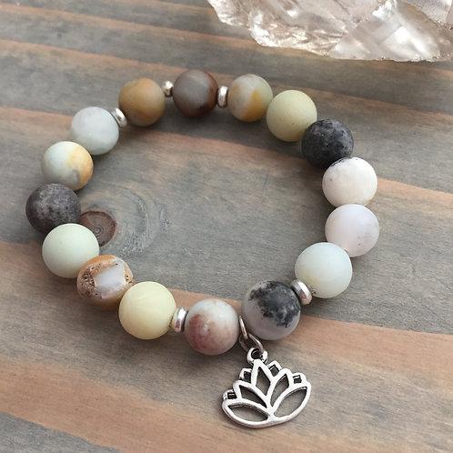 Lotus Charm Bracelet + Silver
