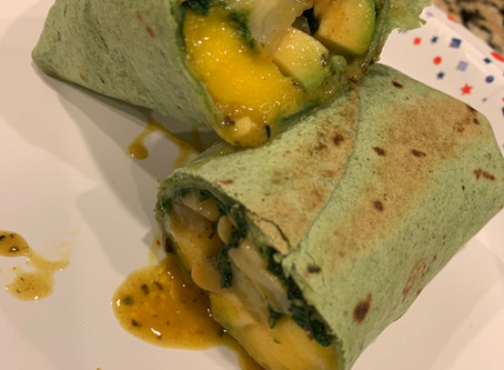 Green Coconut Curry Wraps