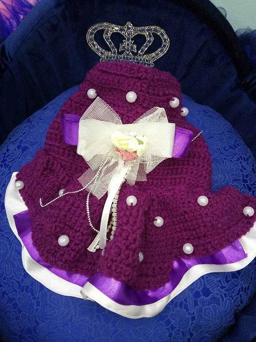 Пальто вязаное Жемчуг