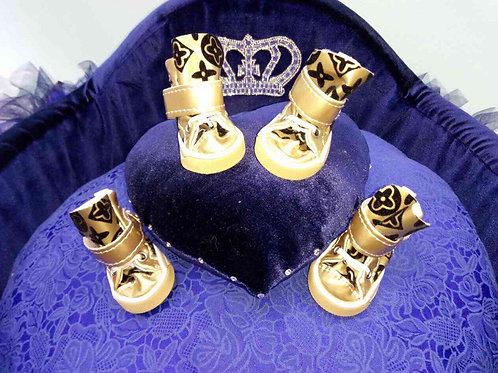 Ботинки Золотые