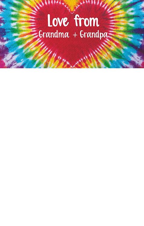 Heart Tie Dye Camp Pad - Grandma & Grandpa