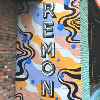 Pipe and Row Mural