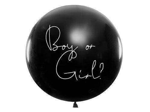 Balons bērna dzimuma noteikšanai, paziņošanai ar konfeti, Boy or girl
