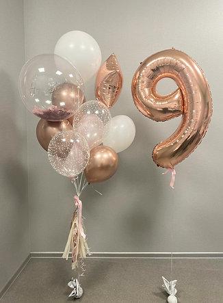 Elegants balonu komplekts (ar ciparu vai bez)