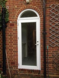 Rationel Aura Glazed Door and Top Light.