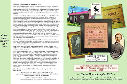 Carter House Sampler