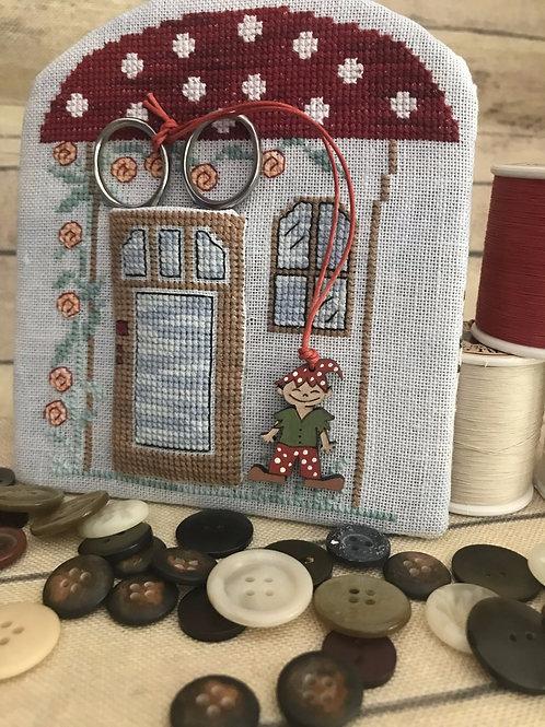 Elf House Scissor Case - includes button
